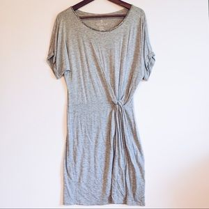 Juicy Couture Heather Grey Knotted Shirt Dress